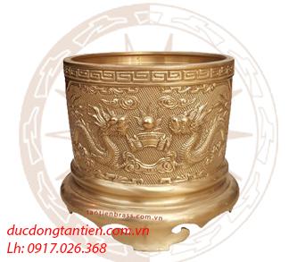 Bát Hương Đồng Vàng Mộc