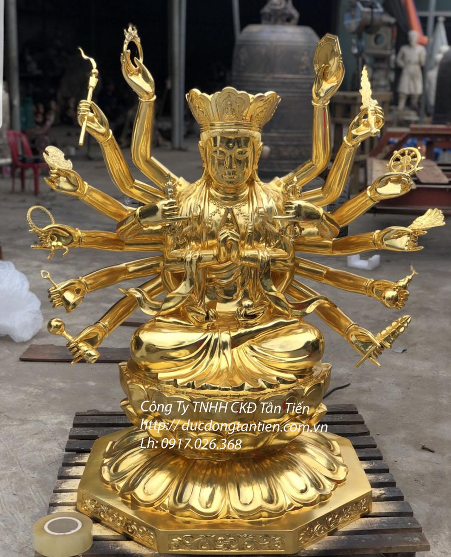 Tượng Phật Chuẩn Đề Mạ Vàng