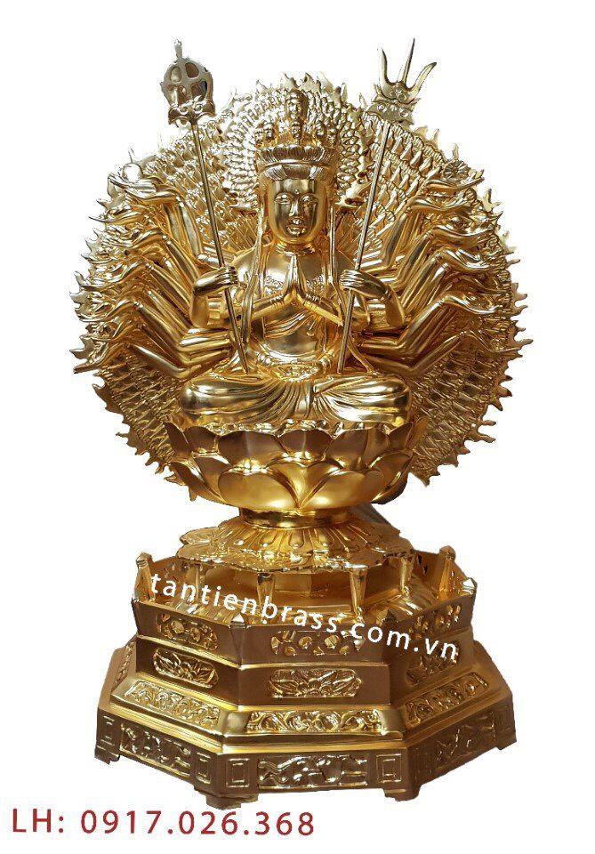 Tượng Thiên Thủ Thiên Nhãn Mạ Vàng Cao 110cm