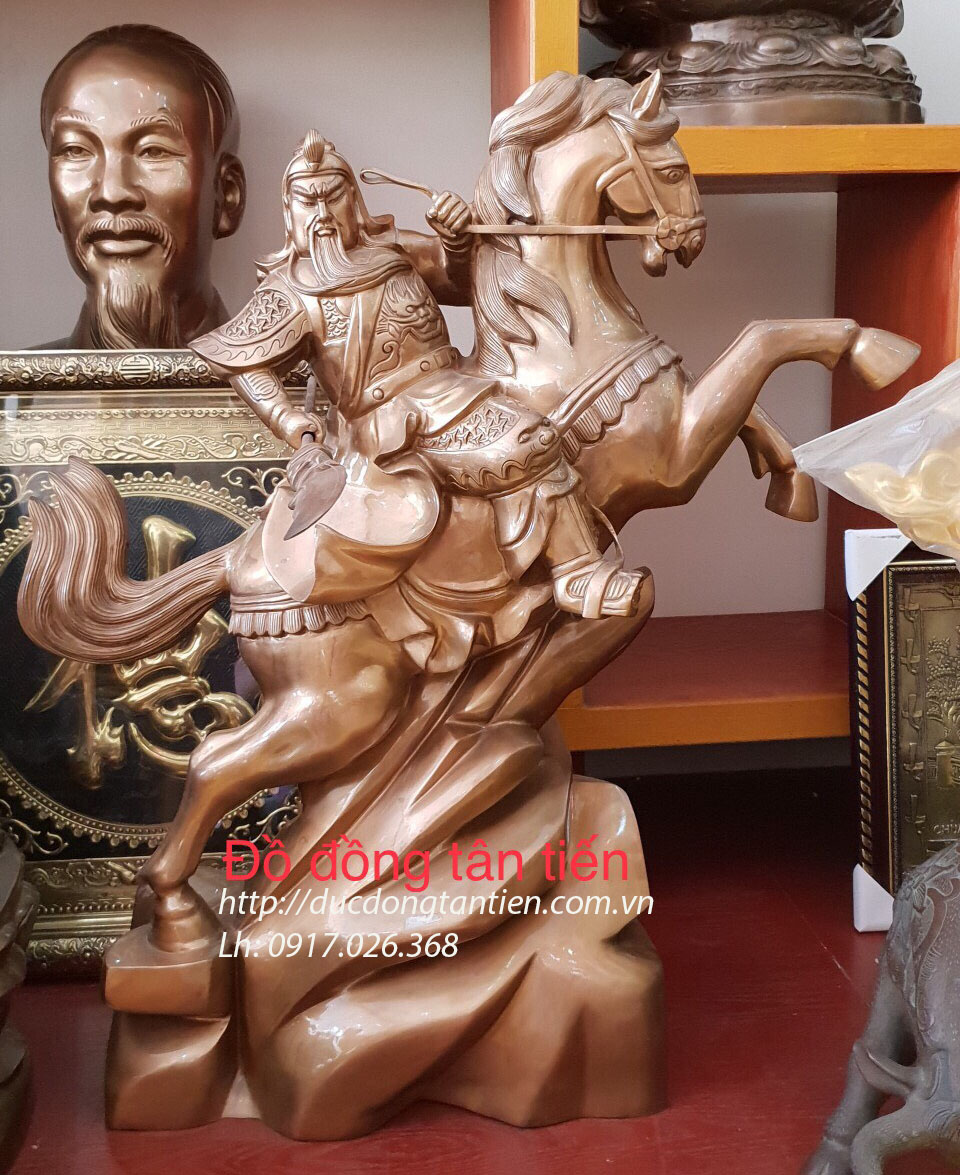 Tượng Quan Công Cưỡi Ngựa Cao 80cm
