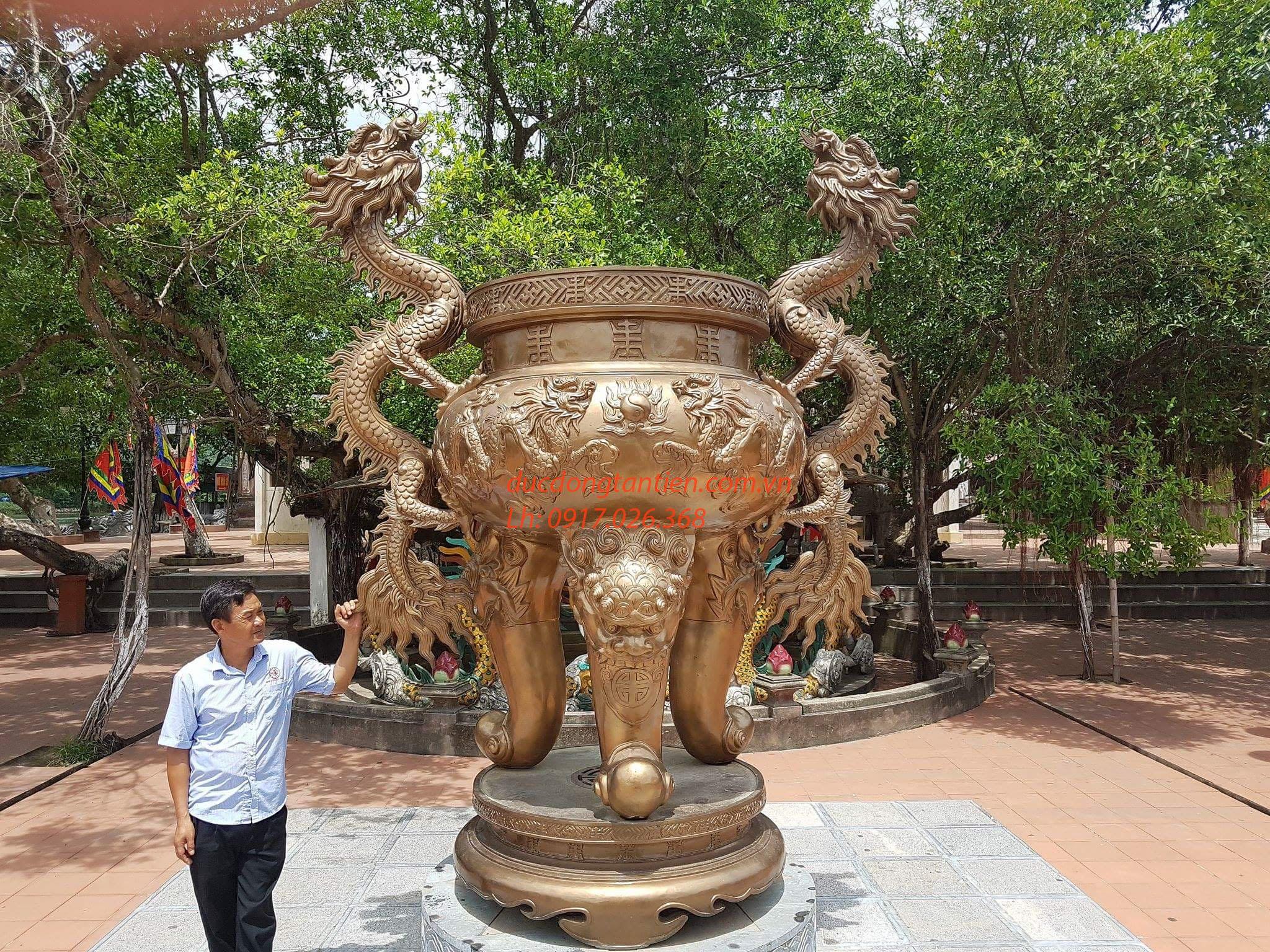 Lư Hương Đồng Tai Rồng Cao 330cm