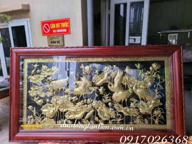Tranh Đồng Sen Hạc